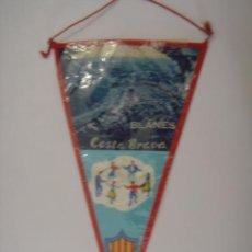 Banderines de colección: BANDERÍN-SOUVENIR. BLANES-COSTA BRAVA-ESPAÑA. EN TELA. MIDE: 26 X 14 CMS.. Lote 41040188