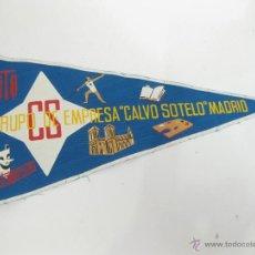 Banderines de colección: BANDERIN GRUPO DE EMPRESA CALVO SOTELO - MADRID CS . Lote 41055899