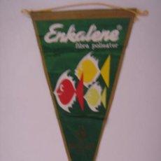 Banderines de colección: BANDERÍN DE ENKALENE FIBRA POLIESTER. EN TELA. IRUPÉ Nº 334. MIDE: 28,5 X 14,8 CMS.. Lote 41086012