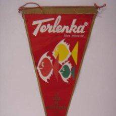 Banderines de colección: BANDERÍN DE LA SEDA DE BARCELONA S A. TERLENKA. IRUPÉ Nº 334. EN TELA. MIDE: 29 X 14,5 CMS.. Lote 41086079