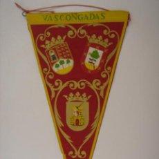 Banderines de colección: BANDERÍN-SOUVENIR DE VASCONGADAS. EN TELA. MIDE: 27,5 X 14,3 CMS.. Lote 41086804