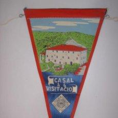 Banderines de colección: BANDERÍN-SOUVENIR. AMETLLA DEL VALLES-CASAL DE LA VISITACIÓN. MIDE: 26,7 X 13,7 CMS.. Lote 41090567