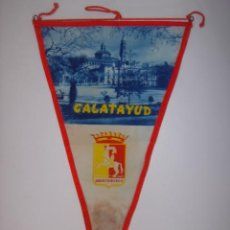 Banderines de colección: BANDERÍN-SOUVENIR. CALATAYUD-ESPAÑA. EN TELA. MIDE: 28 X 15,5 CMS.. Lote 41090660