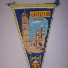 Banderines de colección: BANDERÍN-SOUVENIR.PLAZA MAYOR DE CASTELLÓN-ESPAÑA. EN TELA. MIDE: 26,7 X 13,6 CMS.. Lote 41090698