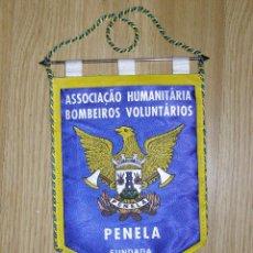 Banderines de colección: BANDERIN - BOMBEROS VOLUNTARIOS - ASOCIACIÓN HUMANITARIA - PENELA - PORTUGAL -. Lote 41381820