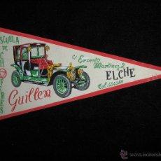 Banderines de colección: BOCETO ORIGINAL SOBRE CARTULINA PINTADO A MANO - BANDERIN - ESCUELA DE CHOFERES GUILLEN - ELCHE. Lote 41430016