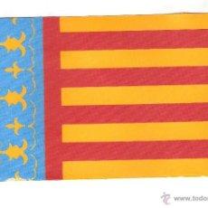 Banderines de colección: 10 BANDERITAS SOBREMESA DE LA COMUNIDAD VALENCIANA DE 15X10 EN RAYON. Lote 41502433