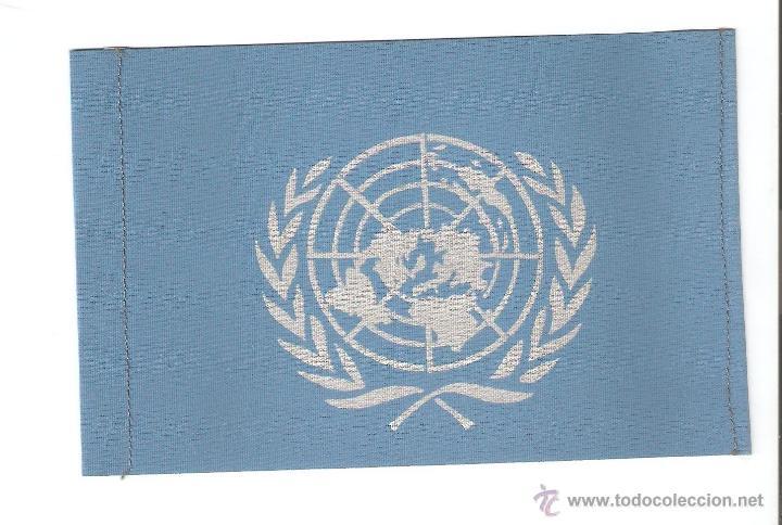 12 BANDERITAS DE 15X10 DE LAS NACIONES UNIDAS (Coleccionismo - Banderines)