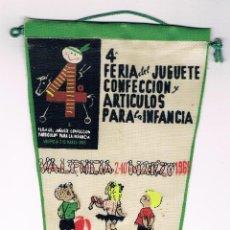 Banderines de colección: 4 FERIA DEL JUGUETE - VALENCIA 1965 - BANDERIN. Lote 42135763