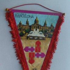 Banderines de colección: VIEJO BANDERIN DE LA XXXVII FERIA DE BARCELONA JUNIO DE 1969 -SOL - GRAPH. Lote 42176550