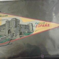 Banderines de colección: BONITO BANDERIN DE CUELLAR. SEGOVIA. CASTILLO DE BELTRAN DE LA CUEVA. CASTILLOS DE ESPAÑA. 26 CM.. Lote 42237812