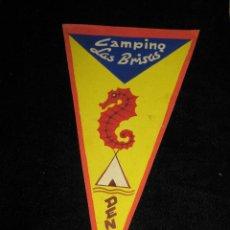Banderines de colección: BOCETO ORIGINAL - CARTULINA - PINTADO MANO - BANDERIN - CAMPING LAS BRISAS - DENIA - ALICANTE. Lote 42761780