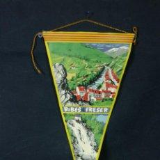 Banderines de colección: BANDERÍN DE TELA RIBES DE FRESER ALTURA 920 METROS 28 X 15 CM RÍO CASCADA CASAS. Lote 43419948