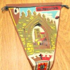 Banderines de colección: BANDERÍN TELA LAS HUELGAS BURGOS AÑOS 60. Lote 43750671