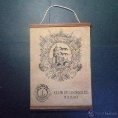 Banderines de colección: BANDERIN CLUB DE LEONES BILBAO - LIONS CLUB. Lote 44016740