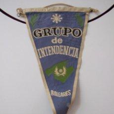 Banderines de colección: GRUPO DE INTENDENCIA BALEARES - BANDERIN MILITAR - AÑOS 60. Lote 44313449