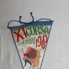 Banderines de colección: BANDERÍN XI CURSA REGURALITAT 1960 - S. CUGAT - MAIG - CMB - 25.5 CM. Lote 45002428