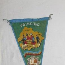 Banderines de colección: BANDERÍN PRINCIPAT D'ANDORRA - 26.5 CM. - DESPERFECTOS. Lote 45002525