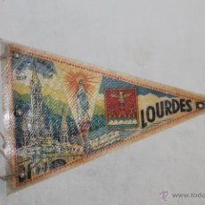 Banderines de colección: BANDERÍN LOURDES CENTENAIRE 1858 - 1958 - LA BASILIQUE ET LA VIERGE COURONEÉ - 23.5 CM.. Lote 45002701