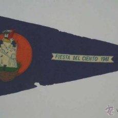 Banderines de colección: ANTIGUO BANDERIN DE LA ESCUELA NAVAL MILITAR, FIESTA DEL CIENTO 1961, MARIN (PONTEVEDRA), MIDE 30. Lote 45079954