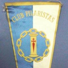 Banderines de colección: BANDERÍN. CLUB PILARISTAS. MADRID. 51,5 X 18 CM. Lote 45265818