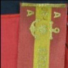 Banderines de colección: BANDERIN SOBRE TELA IMPRESA BANDERA ESPAÑOLA RECUERDO DEL CRUCERO LA ARGENTINA ARA 1948. Lote 33525076