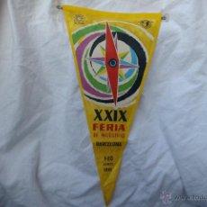 Banderines de colección: BANDERIN DE LA FERIA DE MUESTRAS DE BARCELONA 1961. Lote 46968368