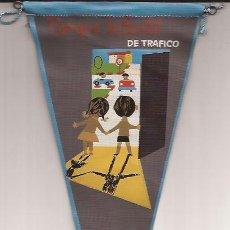 Banderines de colección: BANDERIN-PARQUE INFANTIL DE TRAFICO JEFATURA CENTRAL DE TRAFICO-AÑOS 60. Lote 47064407