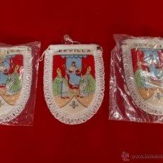 Banderines de colección: SEVILLA LOTE 3 BANDERINES ACOLCHADOS NUEVOS.. Lote 47390040