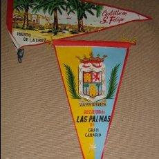 Banderines de colección: LOTE 3 BANDERINES LAS PALMAS,OVIEDO SAN FELIPE. Lote 47676749