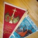 Banderines de colección: RARO LOTE ANTIGUO BANDERIN VALLE DE LOS CAIDOS PATRIMONIO NACIONAL DOMUND ORIGINAL AÑOS 60. Lote 48370335