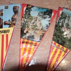 Banderines de colección: LOTE DE 3 BANDERINES, MONTSERRAT (BARCELONA). Lote 48408349