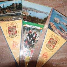 Banderines de colección: LOTE DE 3 BANDERINES, VIGO, EN BUEN ESTADO.. Lote 48408374