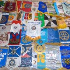 Banderines de colección: LOTE DE 38 BANDERINES DEL CLUB ROTARY. ROTARIOS ROTARIO. JAPÓN, ZAMBIA, ARGENTINA, FLORIDA, GANDIA,. Lote 48471120