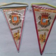 Banderines de colección: LOTE 2 BANDERINES DE GERONA. CATALUÑA ESPAÑA. AÑOS ´60-´70. Lote 48558492
