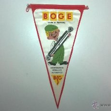 Banderines de colección: BANDERÍN BOGE (AMORTIGUADOR HIDRÁULICO AUTOMÁTICO). Lote 48638117
