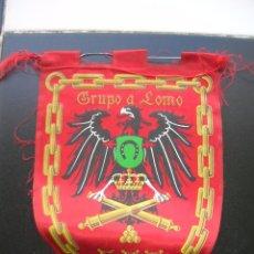 Banderines de colección: GRUPO DE ARTILLERIA A LOMO.LXI.BANDERÍN.TAMAÑO: 25 X 17 CTS.. Lote 48862937