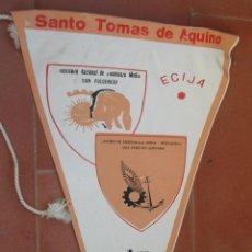 Banderines de colección: SANTO TOMAS DE AQUINO.ECIJA.BANDERIN.TAMAÑO: 23 X 15 CTS.. Lote 48882235