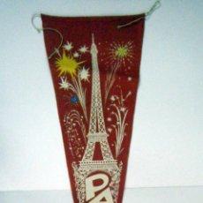 Banderines de colección: BANDERIN AÑOS 1960. PARIS.. Lote 49297388