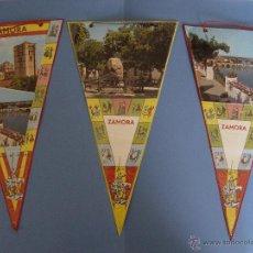 Banderines de colección: 3 BANDERINES: ZAMORA (AÑOS 1950-60) ORIGINALES ¡COLECCIONISTA!. Lote 49686709