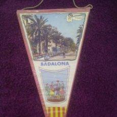 Banderines de colección: BANDERÍN RECORD DE BADALONA. Lote 50627719