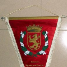 Fanions de collection: BANDERIN ANTIGUO EXCMO EXCELENTISIMO AYUNTAMIENTO DE ZARAGOZA. ESCUDO DE LA CIUDAD. VINTAGE.. Lote 51052931