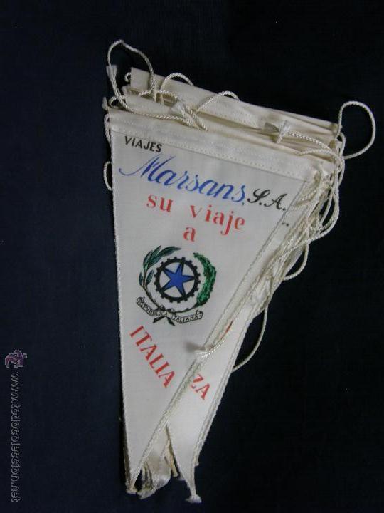 CONJUNTO 16 BANDERINES VIAJES MARSANS S.A. CIUDADES ESCUDOS IMPRESOS VARIAS 24X14CMS (Coleccionismo - Banderines)