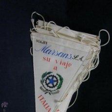 Banderines de colección: CONJUNTO 16 BANDERINES VIAJES MARSANS S.A. CIUDADES ESCUDOS IMPRESOS VARIAS 24X14CMS. Lote 51342209