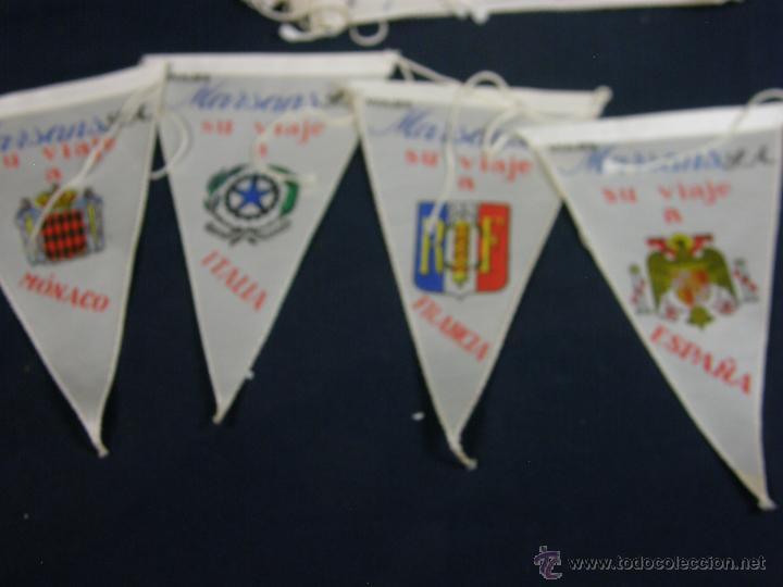 Banderines de colección: conjunto 16 banderines viajes marsans s.a. ciudades escudos impresos varias 24x14cms - Foto 4 - 51342209