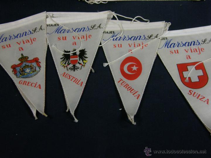 Banderines de colección: conjunto 16 banderines viajes marsans s.a. ciudades escudos impresos varias 24x14cms - Foto 5 - 51342209