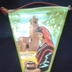 Banderines de colección: ANTIGUO BANDERÍN DE TELA DEL SANTUARIO DE NTRA. SRA. DE LA GUÍA (VIGO). Lote 51685315