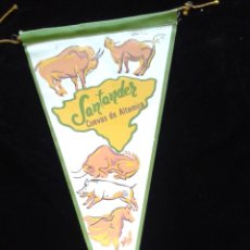 Banderines de colección: BANDERÍN DE TELA DE LAS CUEVAS DE ALTAMIRA. Lote 51772029