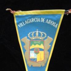 Banderines de colección: BANDERÍN DE TELA DE VILLAGARCÍA DE AROSA. Lote 51772069