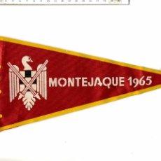 Banderines de colección: ANTIGUO BANDERÍN DE LAS MILICIAS UNIVERSITARIAS : MONTEJAQUE 1965. Lote 52616364